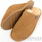 Mens / Ladies / Womens Luxury Sheepskin Mule / Slipper with Hard Sole Chestnut
