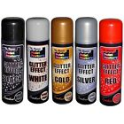 2 x Glitter Effect Spray Paint Decorative Creative Crafts Art DIY Design Colour