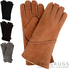 Ladies / Womens Genuine Sheepskin Gloves with Turn Back Long Cuff - Tan