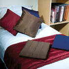 Quilted Faux Silk Bed Runners & Cushion Covers   Hotel Quality   Bedding  
