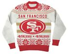 NFL San Francisco 49ers Logo Adult Red Football Ugly Christmas Sweater $24.95 USD on eBay