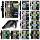 For Huawei Google Nexus 6P Camouflage Case Holster Clip Armor Rugged Stand Cover