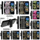 FOR HTC DESIRE + ONE PHONES COVER CAMOUFLAGE CASE DUAL ARMOR HYBRID HOLSTER CLIP