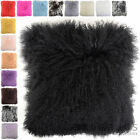 Snugrugs - Monogolian Long Curly Wool Sheepskin Cushion / Pillow & Cushion Inner