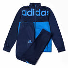 adidas Linear Mens Tracksuit Top & Pant Set Navy/Blue