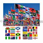 NATIONAL WORLD FLAGS 5FT X 3FT OFFICIAL HIGH QUALITY DENIER FLAG FOOTBALL RUGBY