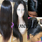 soft straight 100% Brizilian remy human hair full/front lace wig 130% density