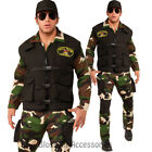 CL605 SEAL Team 3 Army Costume Mens Police Military Uniform Halloween Outfit