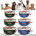 8 Panels Portable Pet Playpen Fence Tent Puppy Dog Cage Crate 2 Color 3 Size New