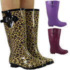 LADIES WIDE CALF WELLY WINTER FESTIVAL WELLIES WOMENS RAIN WELLINGTON BOOTS SIZE