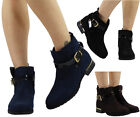 WOMENS LADIES STRAP CHELSEA BOOTIES LOW CUBAN HEEL ANKLE CASUAL BOOTS SHOES SIZE