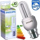 5 x Philips Genie 8w = 40w B22 Low Energy Light Bulb Bayonet Cap BC Lamp #4060