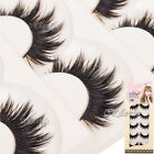 Soft 5 Pairs Long Makeup Cross Thick False Eyelashes Eye Lashes Nautral Handmade