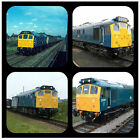 TRAINS (CLASS 25) -  NOVELTY COASTERS - EASY CLEAN - NEW - GIFT IDEAS / XMAS