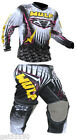 WULFSPORT WHITE KIDS MOTOCROSS PANTS + JERSEY TROUSERS YOUTH CHILD QUAD SHIRT LT