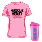 Scitec Nutrition Muscle Army Azalea T-Shirt Woman Rosa + SCITEC SHAKER NEON-PINK