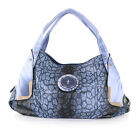 EXTREMELY RARE - BLUE FORD-MUSTANG Purse -BLUE Shimmery Leopard Animal Print Bag