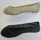 Spot On Ladies Flat Shoe F8760 In Black and Lt Gold UK3x8  (R5B)