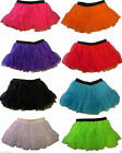Christmas Xmas Ladies Girls Sequin Tutu Skirt Layered Neon Florescent Costume