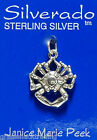 CRAB 3D Jewelry Solid Sterling Silver Pendant - Charm w/ Options #1935