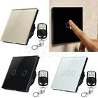 1 2 3 Gang 1 Way LED Crystal Glass Panel Light EU Touch Screen Remote Switch HOT