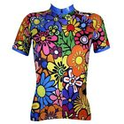 2016 Summer Women Cycling Bike Bicycle Short Sleeve Jersey Top Colorful Flowers