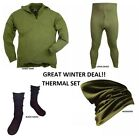 GREAT WINTER DEAL - THERMAL SET LONG JOHNS/NORGI SHIRT/HEADOVER/SOCKS USED