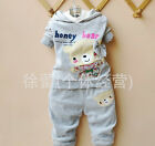 honey bear Baby  boy Outfit Set Tracksuit