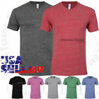 Tri Blend Crew Neck T Shirt Short Sleeve Slim Casual Fit Tee Soft Tops S-XL Mens