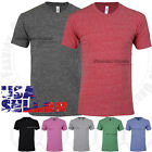 Mens Tri Blend T Shirts Crew Neck Short Sleeve Soft Plain Solid Slim Fit Tee Top image