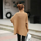 Solid Color Loose Bat Sweater Female bat sleeve women fashion pullovers sweaters