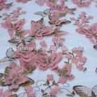 fashion pretty butterflies 25''high quantity on netting 6 colors lace fabric