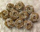 Hessian & Lace Roses Handmade for Weddings Crafts Shabby Chic Vintage