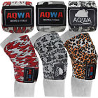 AQWA Knee Wraps Power Weight Lifting Gym Bandages Printed Straps Guards Pads 78""