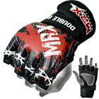MRX MMA Grappling Gloves UFC Cage Kick Boxing Fight Blood Double Grip Black/Red