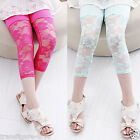 Girls leggings Baby Kids Ballet Dance Lace Tight Pants stretch Canndy colour AU