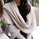 Luxurious Lady Batwing Wool Knitted Sweater Wrap Long Sleeve Cardigan Scarf - CB