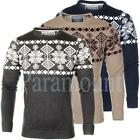 Soulstar Fairisle Crew Neck Knitted Jumper  mens Size