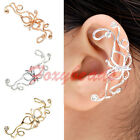 Non Piercing Punk Butterfly Ear Cuff Wire Wrap Clip On Earring Rhinestone Gift