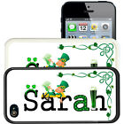 PERSONALIZED ST PATRICKS DAY RUBBER CASE FOR iPHONE 5 5S SE 5C 6 6S 7 PLUS NAME