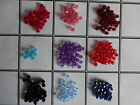 800 x 4mm OR 300 x 6mm Faceted Acrylic Bicone Beads - 10 Colours
