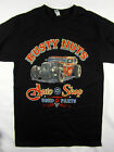 Rusty Nuts Auto Shop Hot Rod vintage style tee shirt men's black Choose A Size
