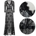 Women's Lace Long Evening Ball Prom Gown Bridesmaid Cocktail Formal Party Dress
