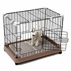 "Favorite Dog Metal Crate Cage Suitcase Exercise Playpen, Brown, 29""/34"""
