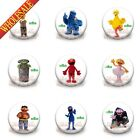 New 9pcs 9Styles Sesame Street Buttons pins badges,30MM,Round Brooch Badges Gift