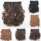 New Synthetic Hairpiece Full Head 5 Clip In Long Wavy Curly Weave Hair Extension