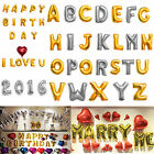 16'/40' Foil Letter Number Balloons Birthday Courtship Wedding Party Decoration