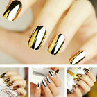 New Full Nail Art Wraps Polish Stickers Nail Tips Decals Easy Manicure 1 Sheet