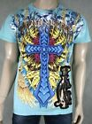 Christian Audigier T-SHIRT men's skull cross STONES NEW
