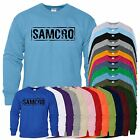 Samcro Mens Sweat Biker Motrcycle Redwood Original SweatShirt Adult Jumper